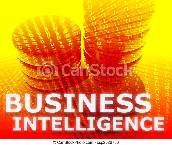 Business intelligence illustration - csp2528756