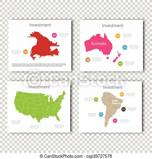 Business investment slide set of usa north america africa business investment slide set of usa north america africa australia maps presentation slide template business layout design modern style accmission Choice Image