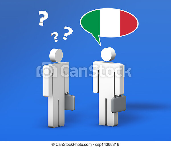 Business Italian Chat Concept - csp14388316