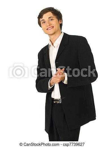 business, jeune, applaudit, homme - csp7739627