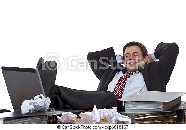Business jeune pieds bureau rel che homme business jeune