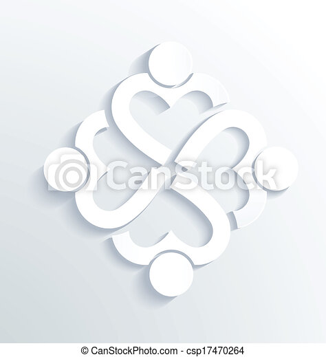 Business label white heart 4 - csp17470264