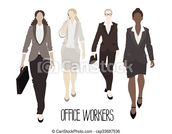 Business-ladies going forward - csp33687536