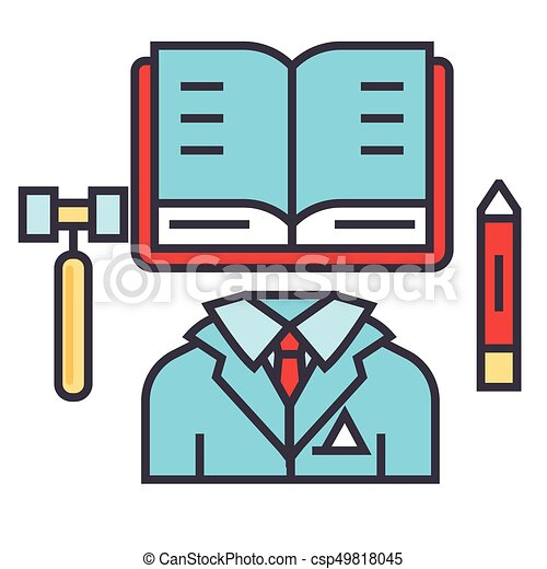 business law justice lawyer office attorney concept line eps rh canstockphoto com lawyer clip art images lawyer clipart png
