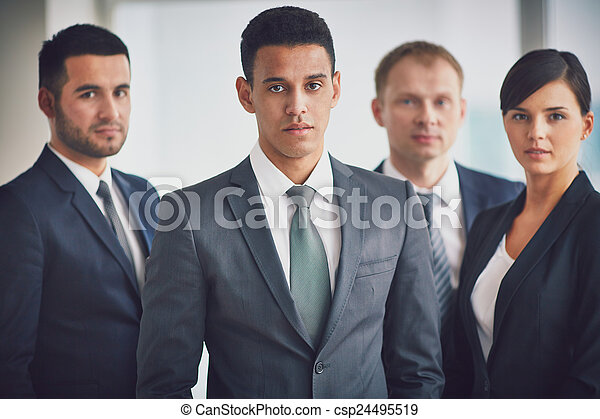 Business leader and team - csp24495519