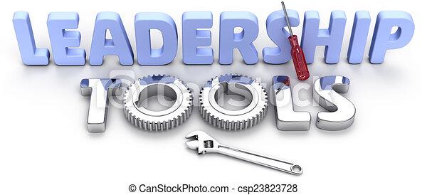 Business Leadership management tools - csp23823728