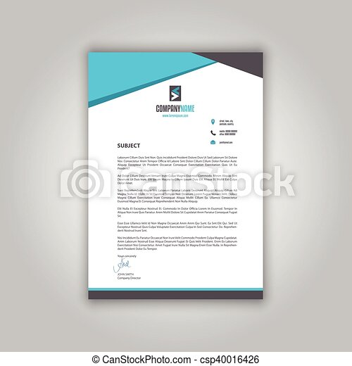 Business Letterhead  Business Letterhead With A Modern