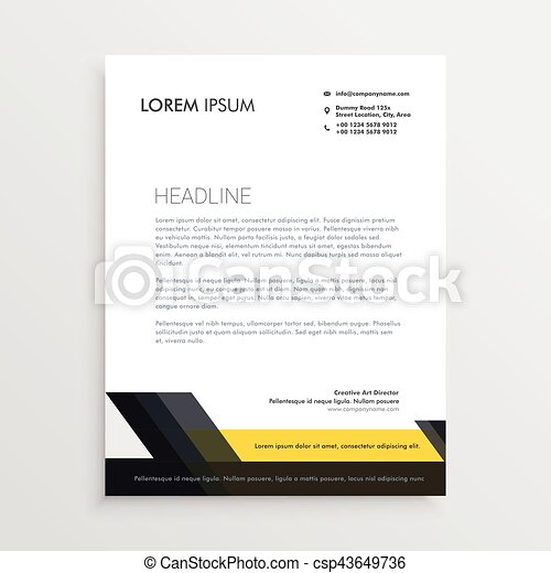 Business letterhead design template vectors search clip art business letterhead design template csp43649736 spiritdancerdesigns Image collections