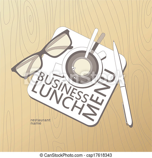 Business lunch menu template business lunch menu card design template business lunch menu template csp17618343 wajeb Choice Image