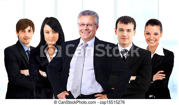 business man and his team isolated over a white background - csp15515276