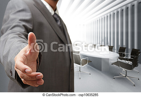 Business man and meeting table background - csp10635285