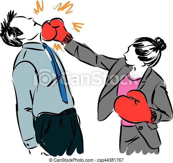 business man and woman boxing illustration clip art vector search rh canstockphoto com boxing clip art free images boxing clip art images