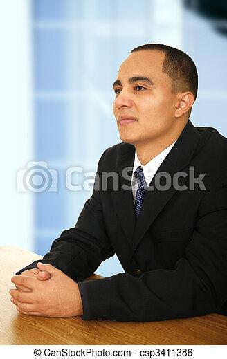 Business Man At Meeting - csp3411386