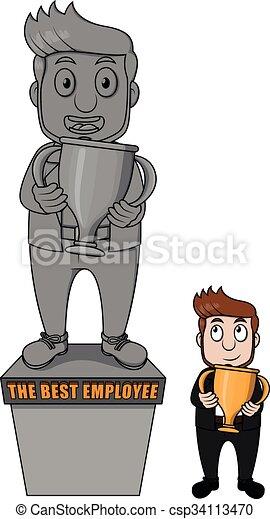 Business man award - csp34113470