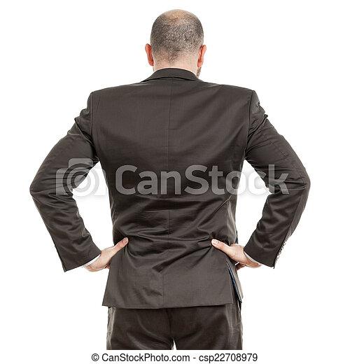 business man back - csp22708979
