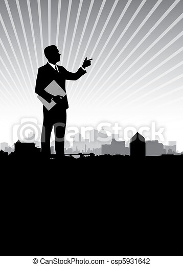 business man background - csp5931642