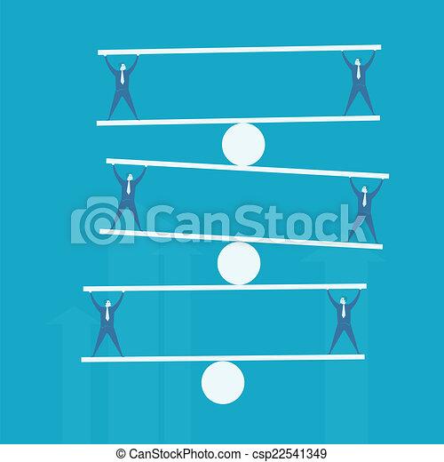 Business man balance beam - csp22541349
