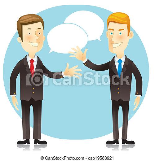 Business man. Cartoon character.  - csp19583921