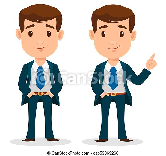 business man cartoon character in smart clothes office clip art rh canstockphoto ca