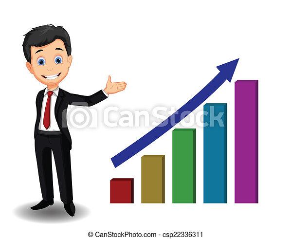 business man cartoon presenting - csp22336311