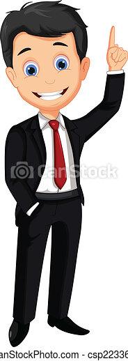 business man cartoon thumb up - csp22336282