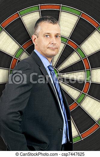 business man dartboard - csp7447625