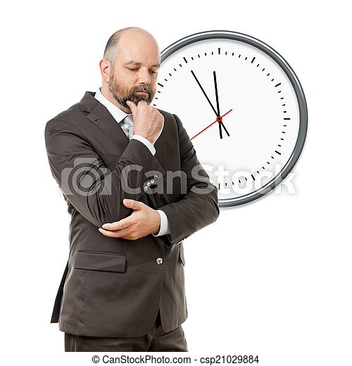 business man deadline - csp21029884
