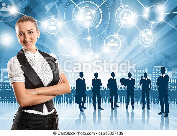 Business Man Employer - csp15827139
