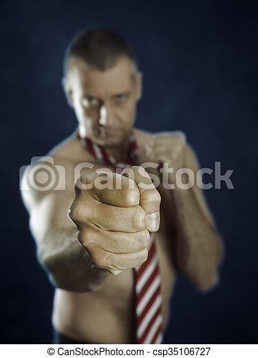 business man fighting - csp35106727