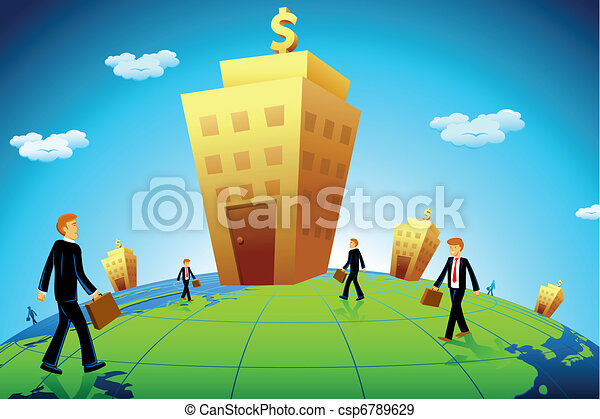 Business man going to Bank - csp6789629