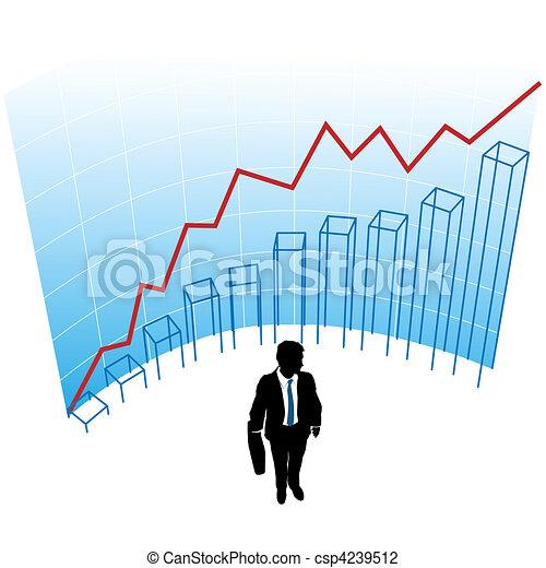 Business man graph chart curve success concept - csp4239512