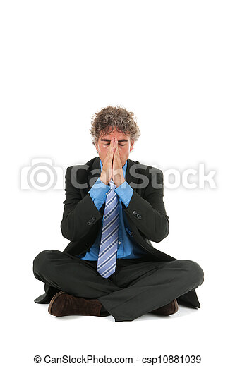 Business man in meditation - csp10881039