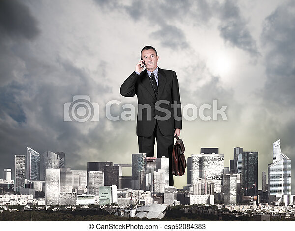 business man in the city - csp52084383
