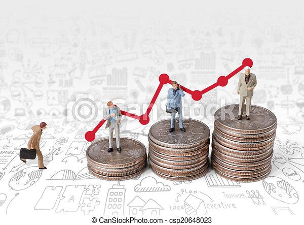 business man miniature figure concept move to success business f - csp20648023
