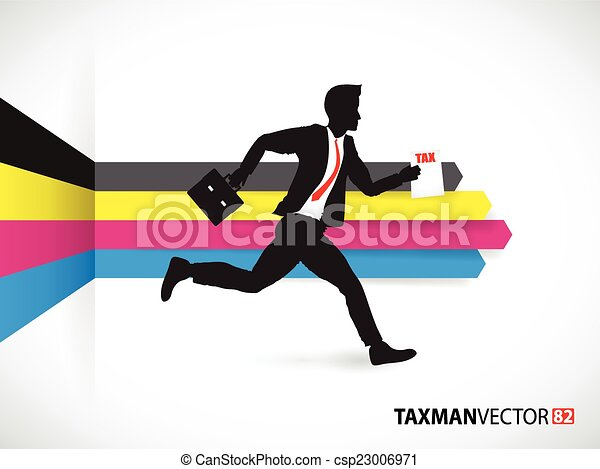 Business man on a cmyk background - csp23006971