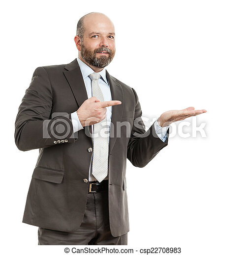 business man pointing - csp22708983