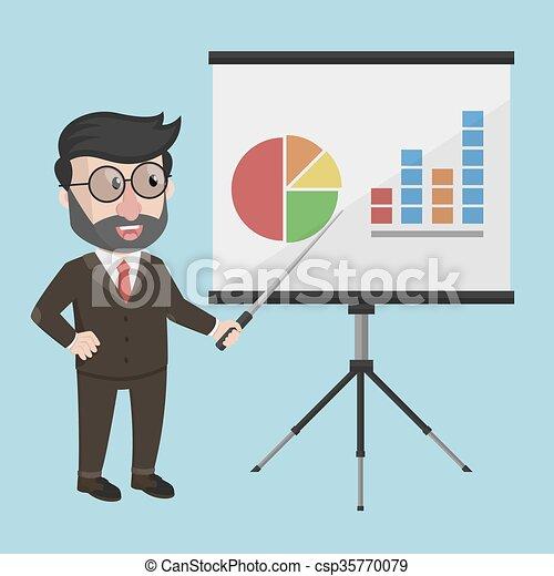 Business man presentation - csp35770079