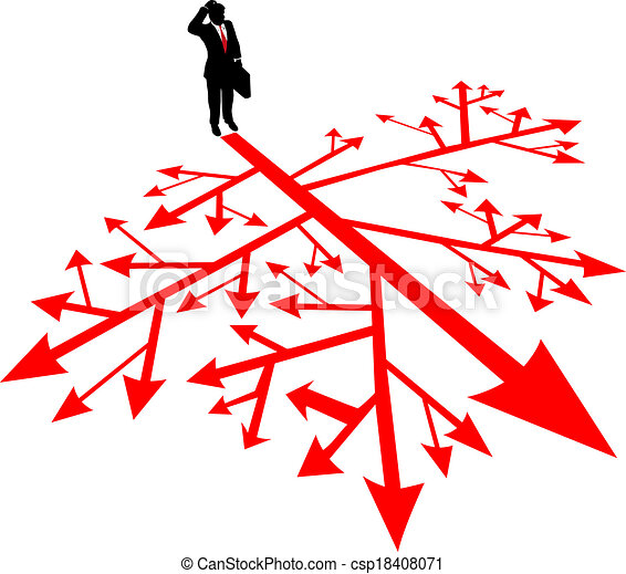 Business man search path in confusion - csp18408071