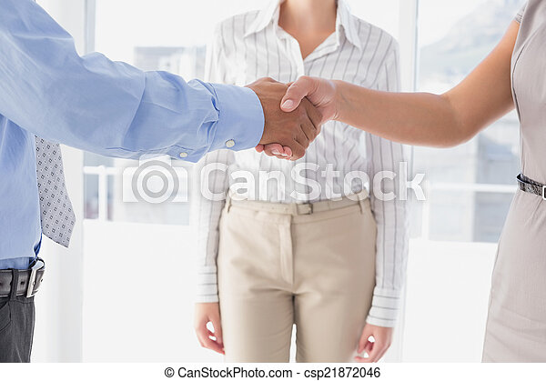 Business man shaking colleagues hand - csp21872046