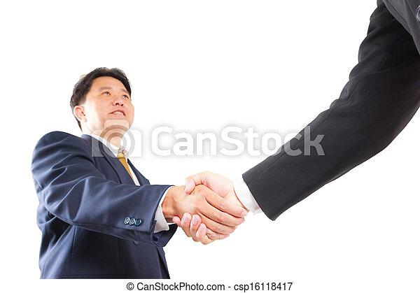 business man shaking hands - csp16118417
