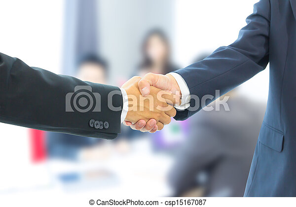 business man shaking hands - csp15167087