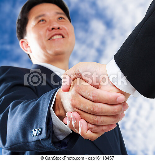 business man shaking hands - csp16118457