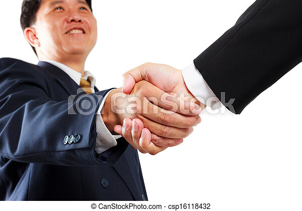 business man shaking hands - csp16118432