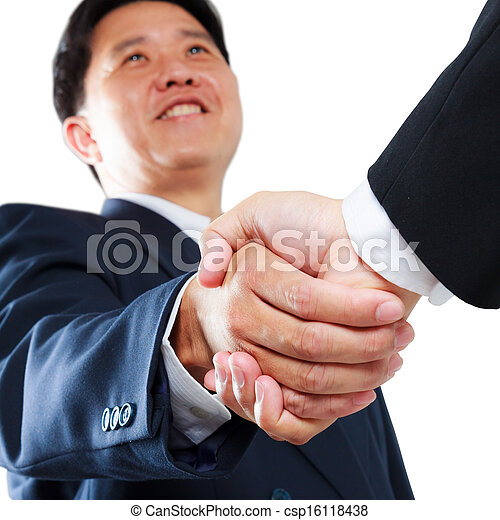 business man shaking hands - csp16118438