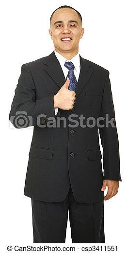 Business Man Showing Ok Sign - csp3411551