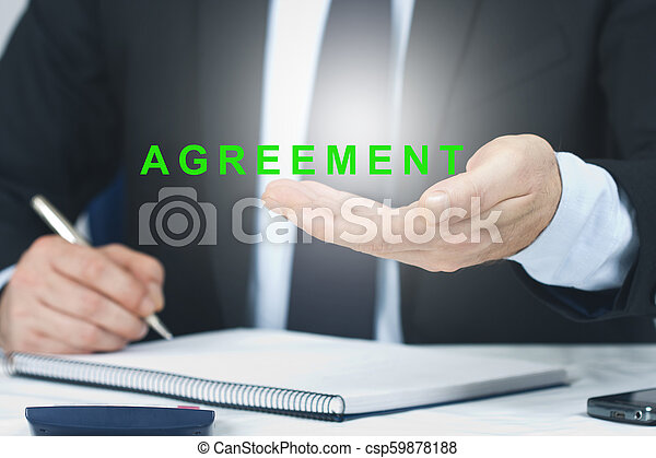 business man signing with the concept of employment - csp59878188
