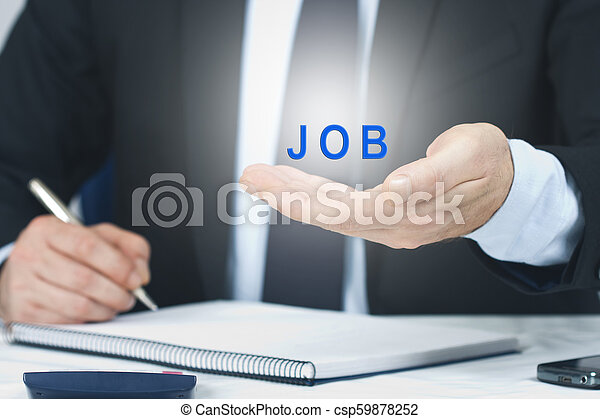 business man signing with the concept of employment - csp59878252