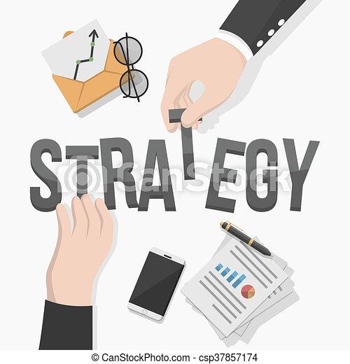 Business man strategy illustration - csp37857174