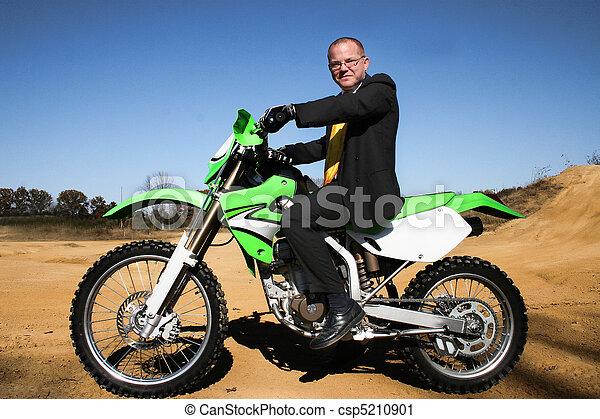 Business Man Suit Dirtbike - csp5210901