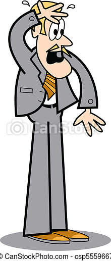 Business man sweating and worried - csp5559667